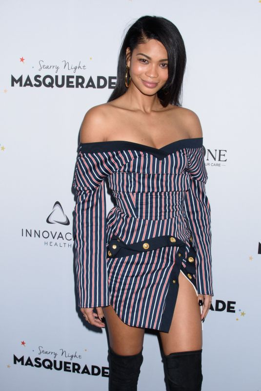 CHANEL IMAN at Starry Night Masquerade for Puerto Rico Relief Effort in New York 10/19/2017