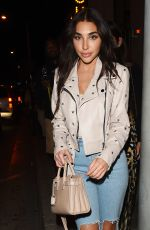 CHANTEL JEFFRIES in Ripped Jeans at Catch LA in West Hollywood 10/19/2017