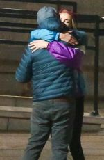 CHARLIZE THERON and Seth Rogen on the Set of  Flarsky in Montreal 10/27/2017