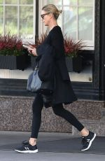 CHARLIZE THERON Leaves Her Hotel in Montreal 10/23/2017