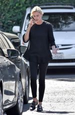 CHARLIZE THERON Out for Lunch in Studio City 10/04/2017