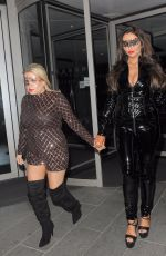 CHARLOTTE DAWSON and NADIA ESSEX at a Halloween Party in London 10/28/2017