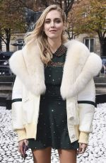CHIARA FERRAGNI at Miu Miu Fashion Show in Paris 10/03/2017