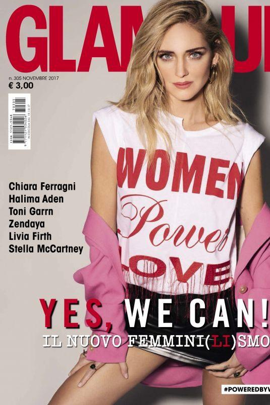 CHIARA FERRAGNI in Glamour Magazine, November 2017