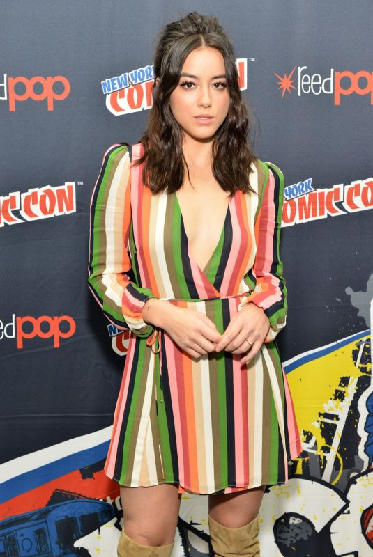 CHLOE BENNET at Agents of S.H.I.E.L.D. Panel at Ney York Comic-con 10/07/2017