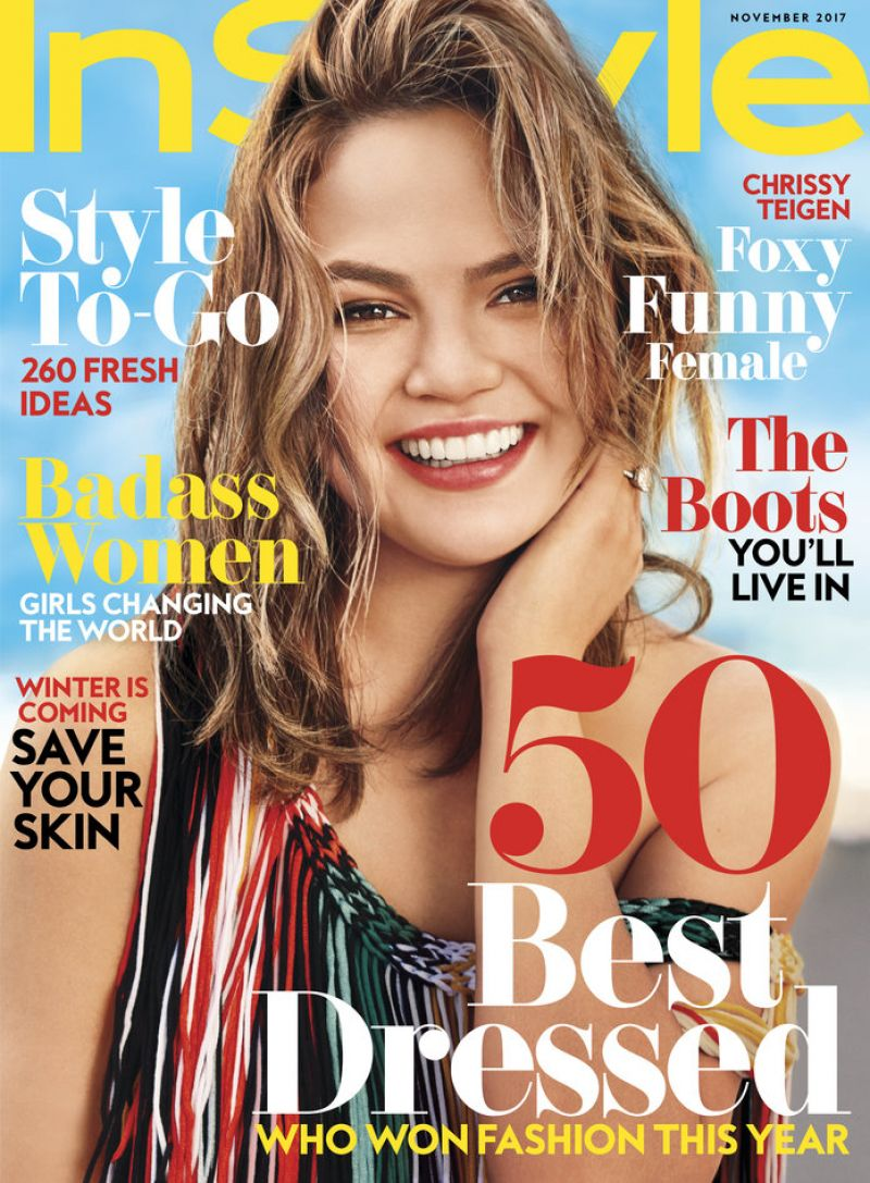 Instyle Magazine Us: CHRISSY TEIGEN In Instyle Magazine, November 2017 Issue