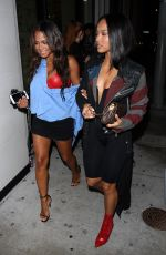 CHRISTINA MILIAN and KERRUECHE TRAN at Catch LA in West Hollywood 09/29/2017