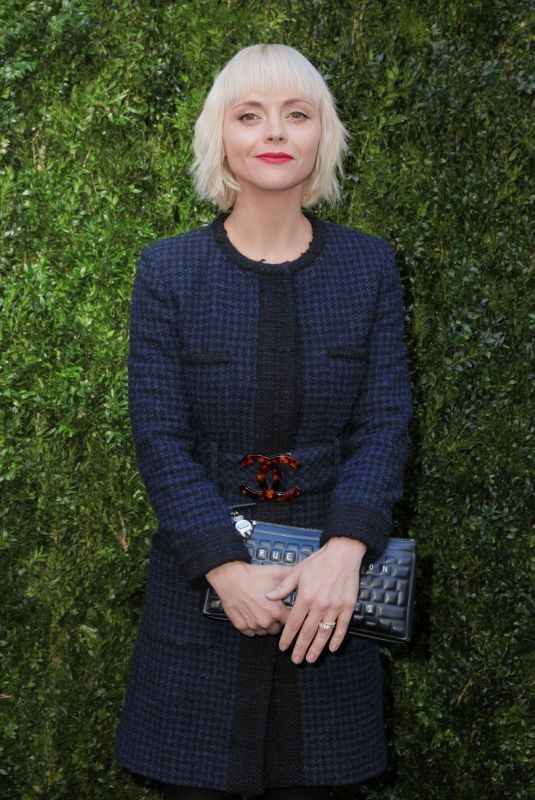 CHRISTINA RICCI at Through Her Lens: the Tribeca Chanel Women's Filmmaker Program Luncheon in New York 10/17/2017