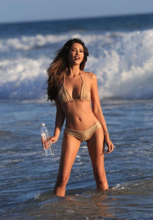 CJ FRANCO in Bikini for 138 Water Photoshoot at a Beach in Malibu 10/01/2017
