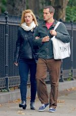 CLAIRE DANES and Hugh Cancy Out for Lunch in New York 10/25/2017