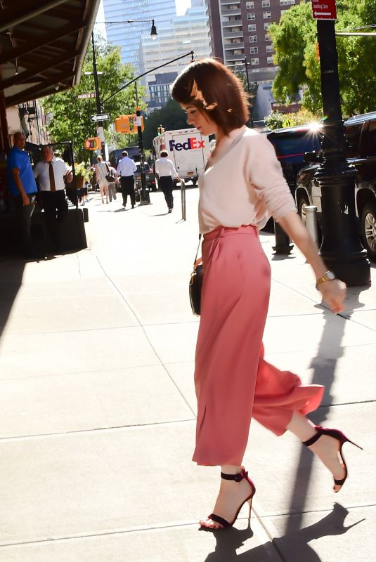 CLAIRE FOY Arrives at Her Hotel in New York 10/10/2017