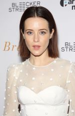 CLAIRE FOY at Breathe Special Screening in New York 10/09/2017