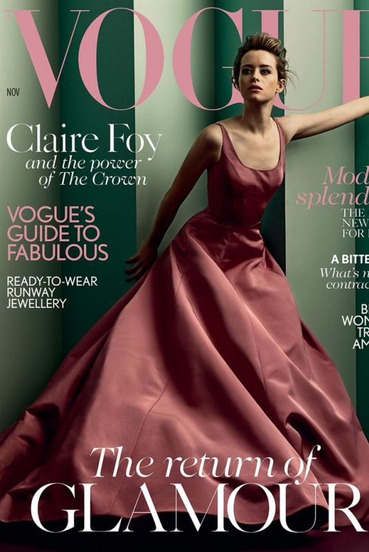 CLAIRE FOY in Vogue Magazine, November 2017 Issue