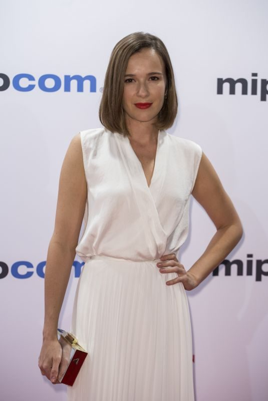 CLAIRE VAN DER BOOM at Mipcom Opening Cocktail in Cannes 10/16/2017