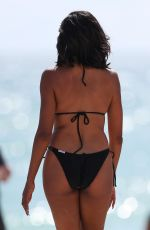 CLAUDIA JORDAN in Bikini on the Beach in Miami 10/15/2017