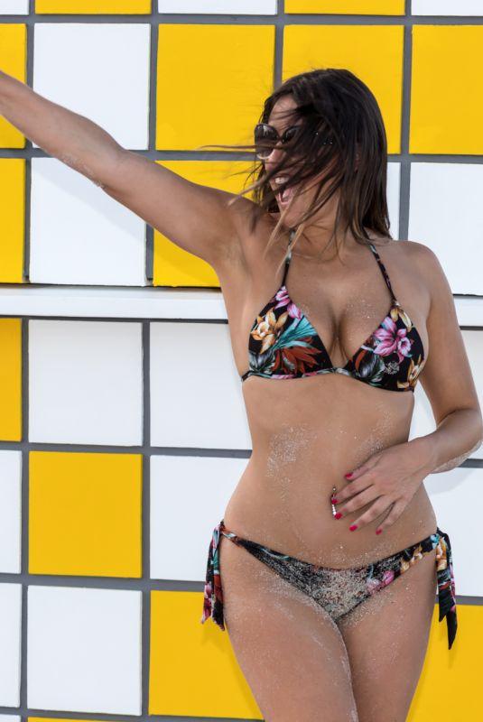 CLAUDIA ROMANI in Bikini at South Beach in Miami 10/15/2017