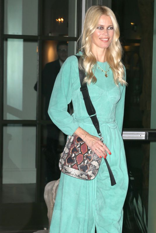 CLAUDIA SCHIFFER Heading to a Book Signing in New York 10/18/2017