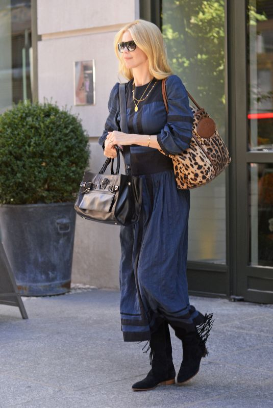 CLAUDIA SHIFFER Leaves Crosby Hotel in New York 10/19/2017