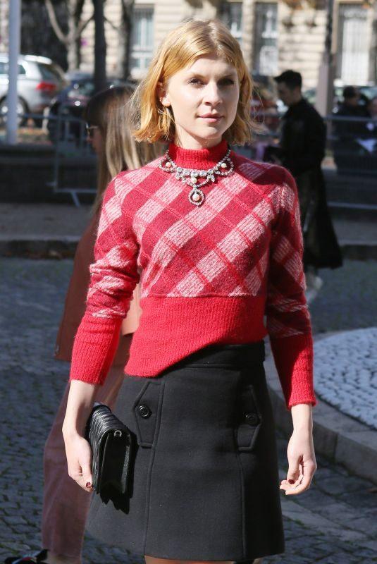 CLEMENCE POESY at Miu Miu Fashion Show in Paris 10/03/2017