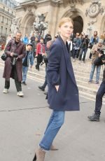 CLEMENCE POESY at Stella McCartney Fashion Show in Paris 10/01/2017