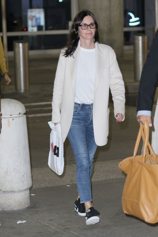 COURTENEY COX at JFK Airport in New York 10/16/2017