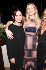 COURTENEY COX at Tabitha Simmons by Jennifer Aniston Dinner in West Hollywood 10/12/2017