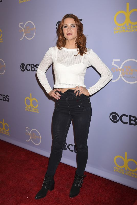 COURTNEY HOPE at Carol Burnett 50th Anniversary Special in Los Angeles 10/04/20147