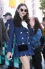 CRYSTAL REED Arrives at AOL Build Speaker Series in New York 10/19/2017