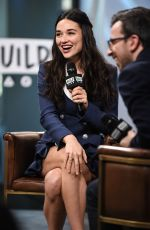 CRYSTAL REED at Build Series in New York 10/18/2017