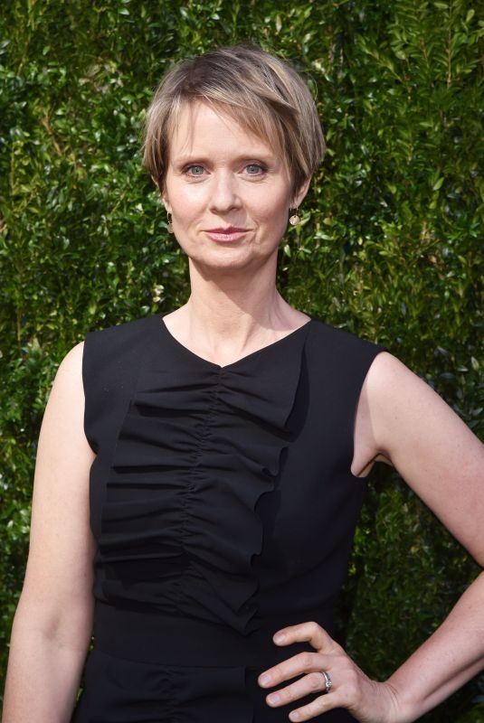 CYNTHIA NIXON at Through Her Lens: the Tribeca Chanel Women's Filmmaker Program Luncheon in New York 10/17/2017