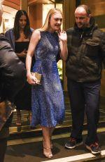 DAKOTA FANNING Leaves Her Hotel in Rome 10/30/2017