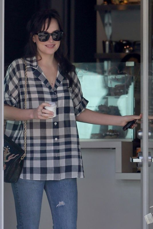 DAKOTA JOHNSON Out for Coffee in West Hollywood 10/09/2017