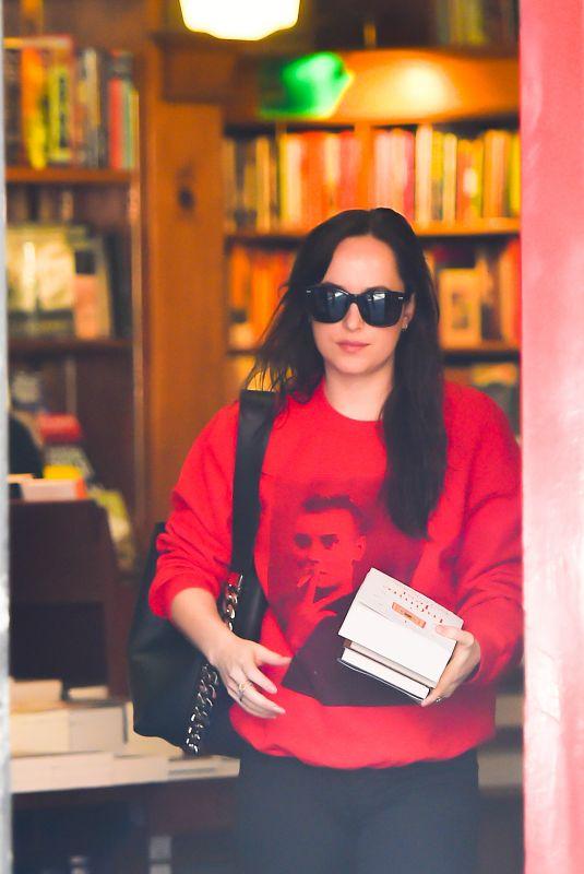 DAKOTA JOHNSON Shopping at a Book Store in New York 10/18/2017