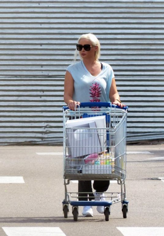 DANIELA KATZENBERGER Shoping at Ikea in Mallorca 09/30/2017