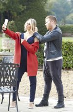 DANIELLE ARMSTRONG on the Set of a Photoshoot in Essex 10/20/2017