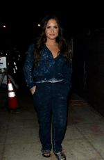DEMI LOVATO Night Out in Beverly Hills 10/16/2017