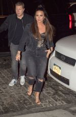 DEMI LOVATO Night Out in New York 10/08/2017