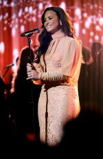 DEMI LOVATO Performs at One Coice: Somos Live! a Concert for Disaster Relief in Los Angeles 10/14/2017