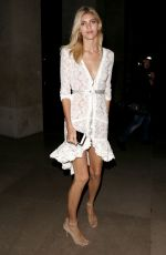 DEVON WINDSOR Arrives at CR Fashion Book Launch Party in Paris 09/30/2017