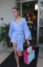 DEVON WINDSOR Shopping at Beach Bunny Swimwear in Miami 10/20/2017