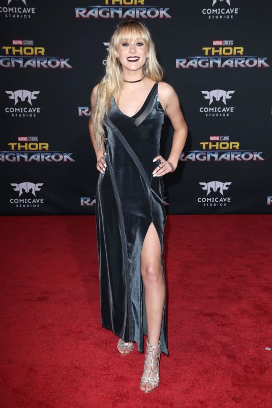 DEVORE LEDRIDGE at Thor: Ragnarok Premiere in Los Angeles 10/10/2017