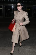 DITA VON TEESE Arrives at LAX Airport in Los Angeles 01/19/2017