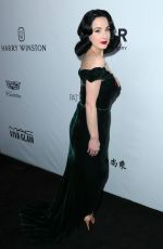 DITA VON TEESE at Amfar Inspiration Gala in Los Angeles 10/13/2017