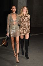 DOUTZEN KROES and JOAN SMALLS Arrives at CR Fashion Book Launch Party in Paris 09/30/2017