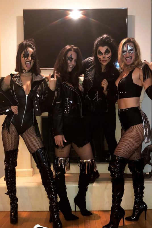 EIZA GONZALEZ and Friends as Kiss Rock Band for Halloween, Instagram Picture