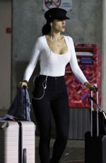 EIZA GONZALEZ Arrives at Airport in Vancouver 10/10/2017
