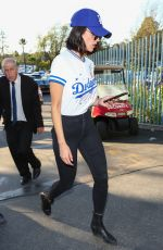 EIZA GONZALEZ Arrives at Dodger Stadium in Los Angeles 10/24/2017