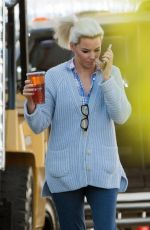 ELIZABETH BANKS on the Set of The Happytime Murders in Los Angeles 10/19/2017