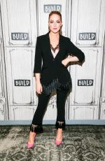 ELIZABETH GILLIES at AOL Build in New York 10/09/2017