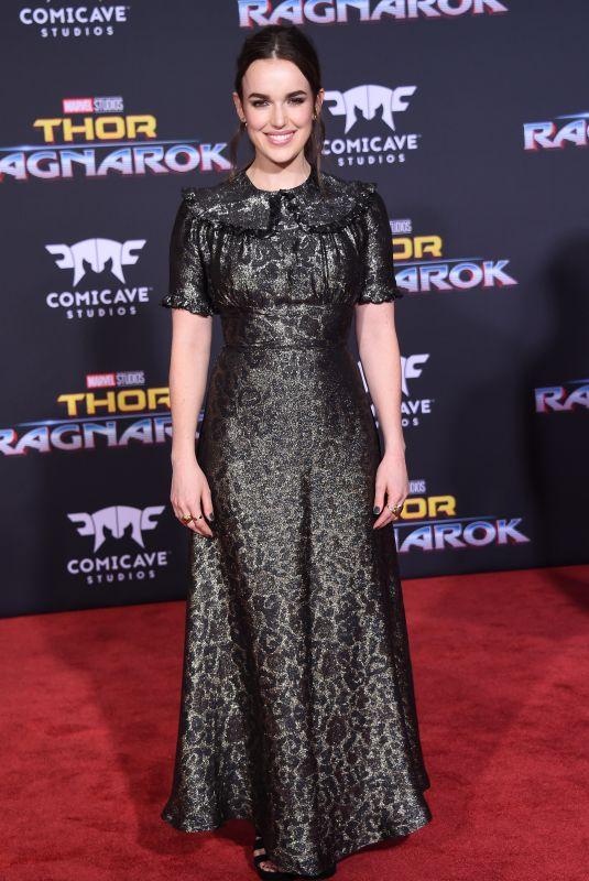 ELIZABETH HENSTRIDGE at Thor: Ragnarok Premiere in Los Angeles 10/10/2017
